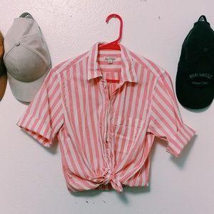 Bubblegum Striped Shirt